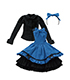 FAR178【48/50cmドール用】BlackRavenClothing 青い月のカノ...