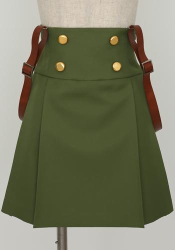 がっこうぐらし!/がっこうぐらし!/巡ヶ丘学院高等学校女子制服 スカートセット緑ver.