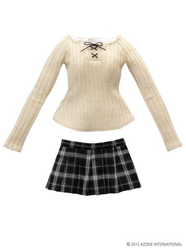 AZONE/50 Collection/FAO025【48/50cmドール用】AZO2あったか編上げニット&スカートset