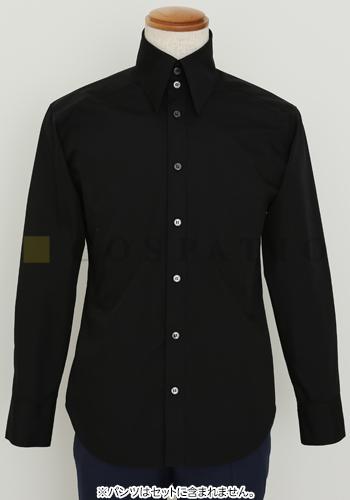 メーカーオリジナル/COSPATIOオリジナル/オリジナル襟高シャツ/黒