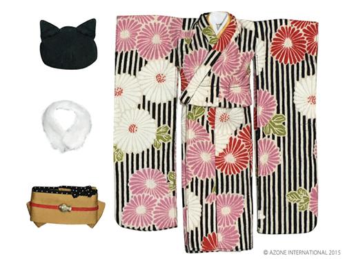 AZONE/Pureneemo Original Costume/POC365【1/6サイズドール用】PNSモダンどうぶつ着物セット