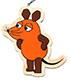 マウス(TM) エコウッドオーナメント どれどれ