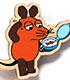 マウス(TM) エコウッドマグネット アイテム4 方位磁針