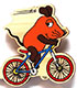マウス(TM) エコウッドマグネット アイテム1 自転車