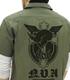 第666戦術機中隊 黒の宣告ワッペンベースワークシャツ
