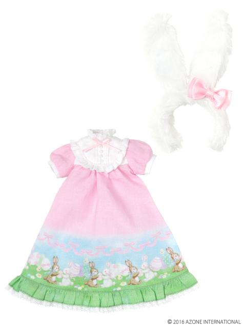 AZONE/Pureneemo Original Costume/POC370【1/6サイズドール用】PNSリボンうさぎさんのイースターワンピ♪セット