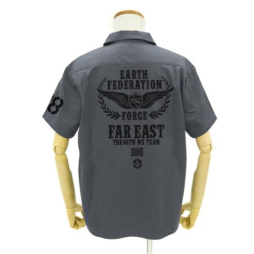 ガンダム/機動戦士ガンダム第08MS小隊/極東方面軍 第08小隊ワッペンベースワークシャツ