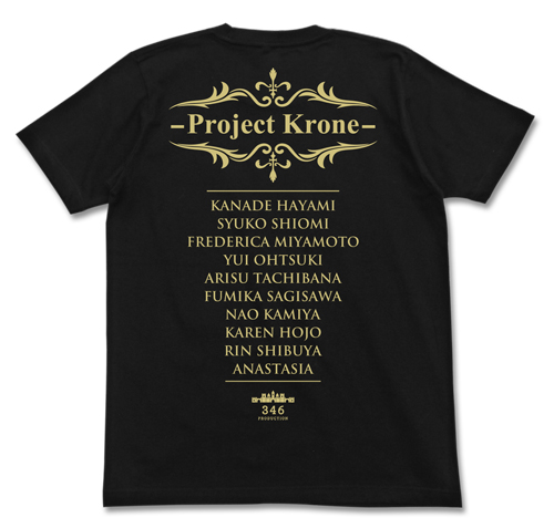 THE IDOLM@STER/アイドルマスター シンデレラガールズ/Project:Krone Tシャツ