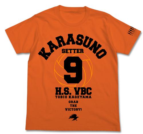 ハイキュー!!/ハイキュー!! 烏野高校 VS 白鳥沢学園高校/烏野高校排球部応援Tシャツ 影山飛雄Ver.