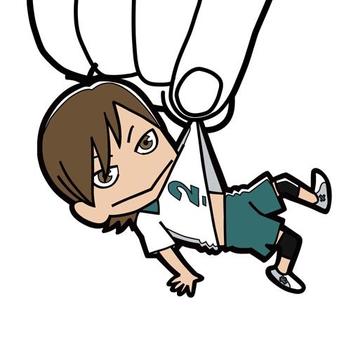 ハイキュー!!/ハイキュー!! 烏野高校 VS 白鳥沢学園高校/二口堅治つままれストラップ