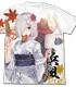浴衣の浜風フルグラフィックTシャツ