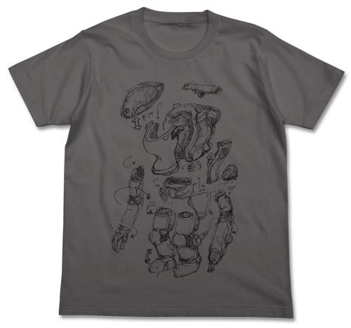 マシーネンクリーガー/マシーネンクリーガー/スネークアイ製品化計画図Tシャツ