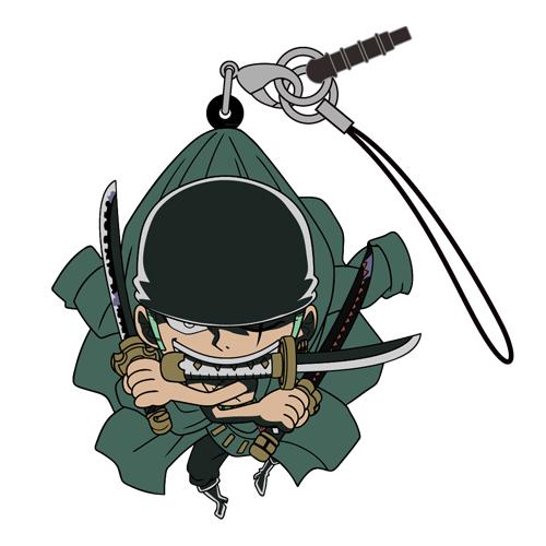 ONE PIECE/ワンピース/ゾロ三刀流つままれストラップ