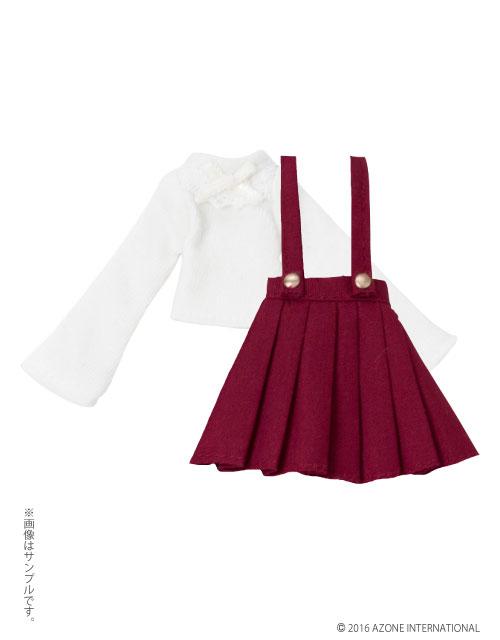 AZONE/ピコニーモコスチューム/PIC127【1/12サイズドール用】1/12 ピコDニット&ストラップスカートセット