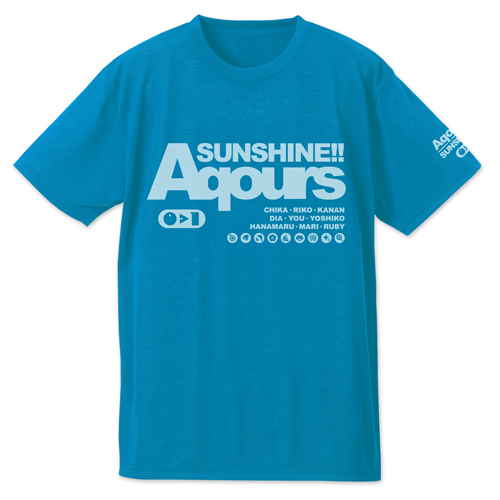 ラブライブ!/ラブライブ!サンシャイン!!/AqoursドライTシャツ