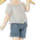 PIC153【1/12サイズドール用】ゆる襟サマーニット