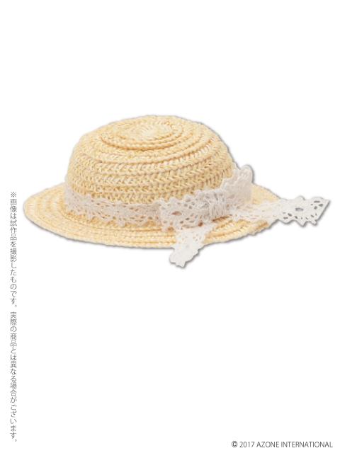 AZONE/ピコニーモコスチューム/PIC139【1/12サイズドール用】 レースリボンの麦わら帽子