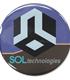SOLテクノロジー社ロゴ 缶バッジ