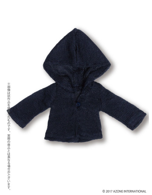 AZONE/Pureneemo Original Costume/PNM114-NVY【1/6サイズドール用】こもれび森のお洋服屋さん♪「PNMふんわりフードカーディガンII」