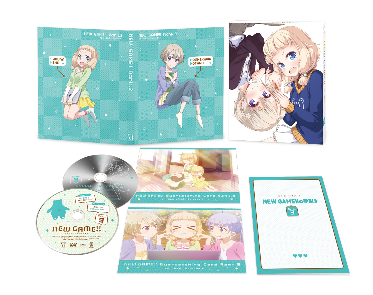NEW GAME!/NEW GAME!!/★GEE!特典付★NEW GAME!! Rank.3【Blu-ray】