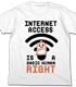 ネットは人権Tシャツ