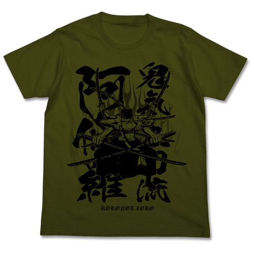 ONE PIECE/ワンピース/鬼気 九刀流 阿修羅Tシャツ
