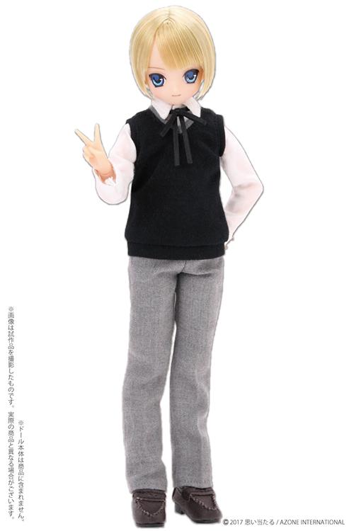 AZONE/Pureneemo Original Costume/ALB195【1/6サイズドール用】PNXS 男の子ニットベスト制服セット