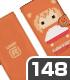 ドットうまる 手帳型スマホケース148