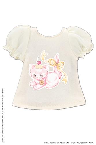 AZONE/Pureneemo Original Costume/POC442【1/6サイズドール用】Sugar Dream PNSパフスリーブTシャツ~by MAKI~