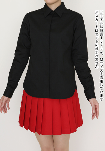 メーカーオリジナル/COSPATIOオリジナル/センターラインシャツ(ポケットなし)/黒