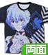 綾波レイ 両面フルグラフィックTシャツ