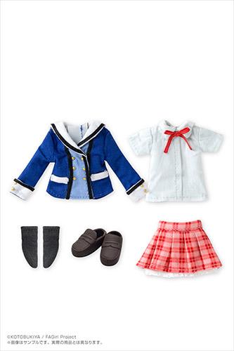 AZONE/ピコニーモコスチューム/ACC152-FGS【1/12サイズドール用】1/12キャラクターコスチュームシリーズ 002『フレームアームズ・ガール』1/12 若葉女子高校制服衣装セット