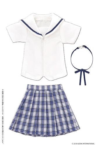AZONE/Pureneemo Original Costume/PNM171【1/6サイズドール用】PNM 白襟チェックセーラー服セット
