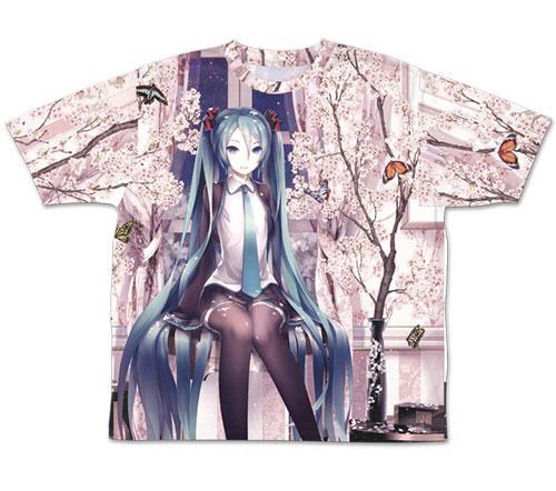 初音ミク/初音ミク/初音ミク cherry blossoms 両面フルグラフィックTシャツ