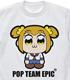 ポプテピピック/ポプテピピック/ポプテピピック デスメタルロゴ Tシャツ