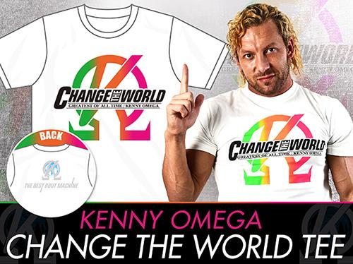 新日本プロレスリング/新日本プロレスリング/ケニー・オメガ「CHANGE THE WORLD」Tシャツ