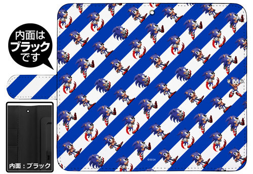 ソニック・ザ・ヘッジホッグ/ソニック・ザ・ヘッジホッグ/ソニック総柄 手帳型スマホケース 158