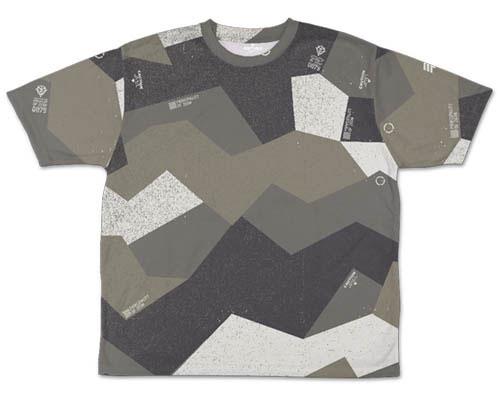 ガンダム/機動戦士ガンダム/ジオン スプリンター迷彩 両面フルグラフィックTシャツ