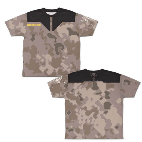 ガンダム/機動戦士ガンダム/地球連邦軍 迷彩 両面フルグラフィックTシャツ