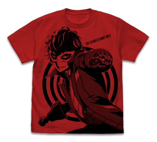ペルソナ/ペルソナ5/ジョーカー オールプリントTシャツ