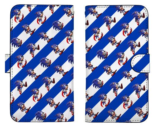 ソニック・ザ・ヘッジホッグ/ソニック・ザ・ヘッジホッグ/ソニック総柄 手帳型スマホケース 148