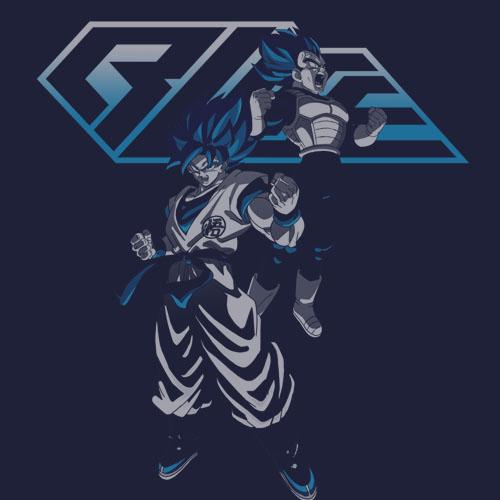 ドラゴンボール/ドラゴンボール超 ブロリー/超サイヤ人ブルー 悟空&ベジータTシャツ