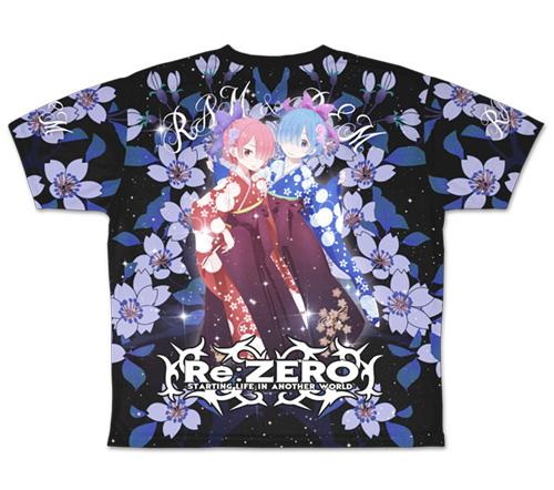 Re:ゼロから始める異世界生活/Re:ゼロから始める異世界生活/レム&ラム両面 フルグラフィックTシャツ