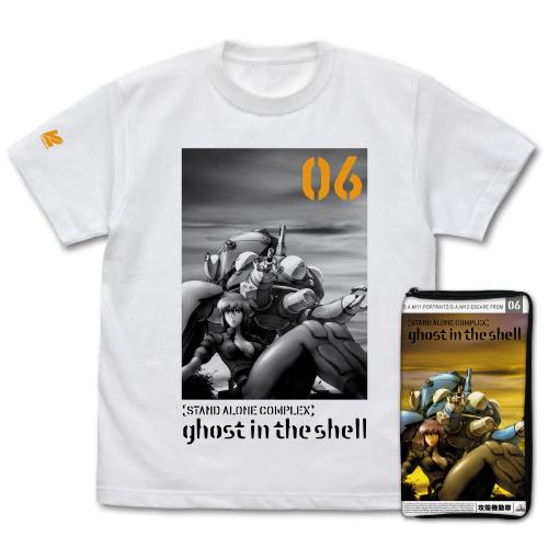 攻殻機動隊/攻殻機動隊 STAND ALONE COMPLEX/攻殻機動隊 STAND ALONE COMPLEX 6巻 VCパッケージ ポーチ&Tシャツ