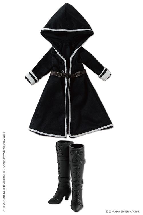 AZONE/ピコニーモコスチューム/PIC273-BLK【1/12サイズドール用】1/12 BlackRaven Luluna フードコート&ブーツセット