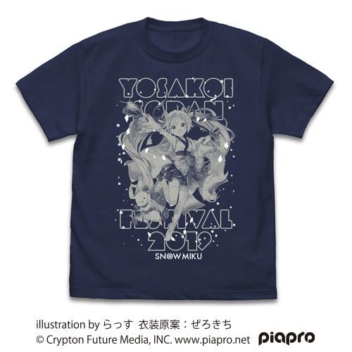 初音ミク/雪ミク YOSAKOIソーラン祭り2019/★限定★雪ミク YOSAKOIソーラン祭り2019 Tシャツ