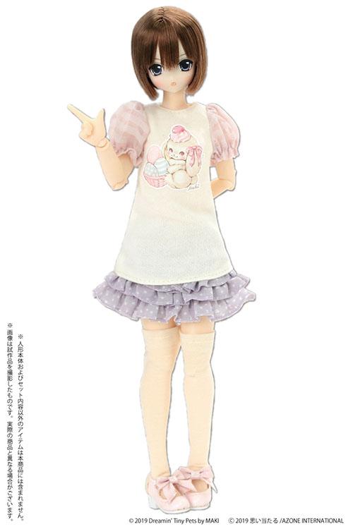 AZONE/Pureneemo Original Costume/POC473【1/6サイズドール用】PNS イースターTシャツワンピース ~by MAKI~