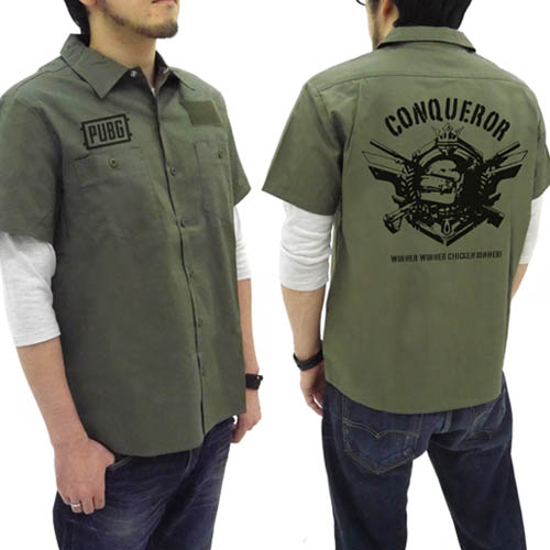 PLAYERUNKNOWN'S BATTLEGROUNDS/PLAYERUNKNOWN'S BATTLEGROUNDS/PUBG 征服者 ワッペンベースワークシャツ
