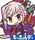 セイバー/宮本武蔵 つままれキーホルダー