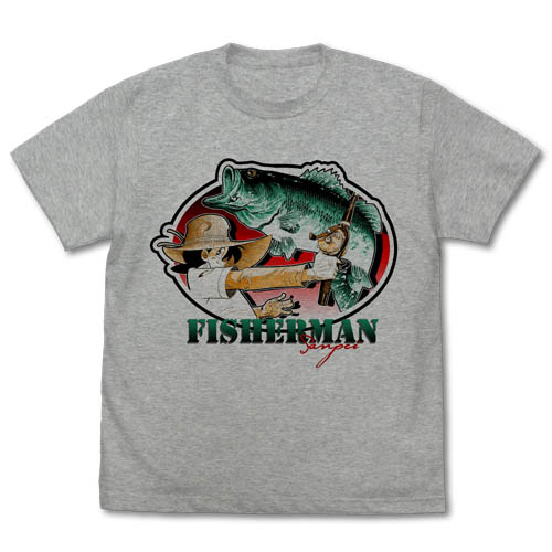 釣りキチ三平/釣りキチ三平/三平とブラックバス Tシャツ